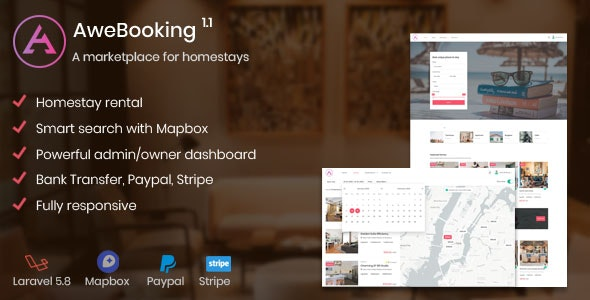 AweBooking v1.3.4 - A marketplace for homestays