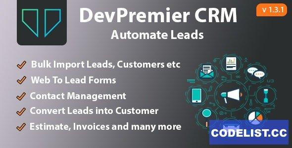 DevPremier CRM v1.3.1 - Convert Leads into Customers