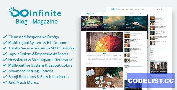 Infinite v4.0.2 - Blog & Magazine Script - nulled