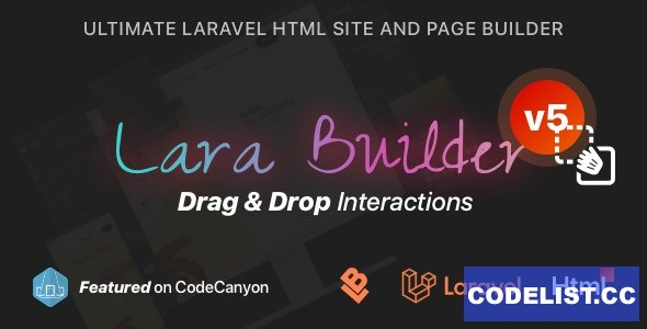 LaraBuilder v5.1.0 - Laravel Drag&Drop SaaS HTML site builder