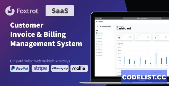 Foxtrot (SaaS) v1.0.1 - Customer, Invoice and Expense Management System
