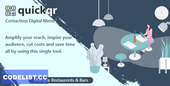 QuickQR v5.7 - Saas - Contactless Restaurant QR Menu Maker - nulled